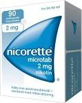 Nicorette Microtab, resoriblett, sublingual 2 mg 90 st