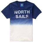 North Sails T-shirt Faded Blå/vit