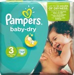 Pampers Baby-Dry S3 4-9 kg 30 st