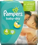 Pampers Baby-Dry S4 7-18 kg 25 st