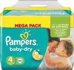 Pampers Baby-Dry S4 7-18kg 86 st