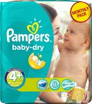 Pampers Baby-Dry Size 4+ månadsbox