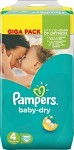 Pampers Baby-Dry S4 7-18 kg 120 st