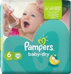 Pampers Baby-Dry S6 15+ kg 33 st