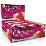 Questbar White Chocolate Raspberry 12 st