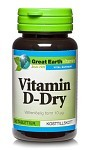 Great Earth Vitamin D-Dry 400 90 tabletter