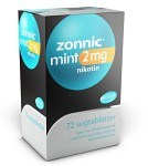 Zonnic Mint, sugtablett 2 mg 72 st