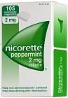 Nicorette Pepparmint, medicinskt tuggummi 2 mg 105 st