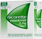 Nicorette Pepparmint, medicinskt tuggummi 2 mg 210 st