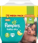 Pampers BabyDry Junior S5 11-23 kg 74 st