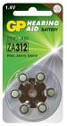 Batteri Hörapparat zink luft  ZA312 1,44V 6 st