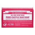 Dr Bronner Rose Bar Soap