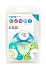 Esska Napp Classic silikon 3-pack (grön, blå, turkos)