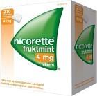 Nicorette Fruktmint, medicinskt tuggummi 4 mg 210 st