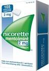 Nicorette Mentolmint, medicinskt tuggummi 2 mg 105 st