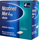 Nicotinell Mint, medicinskt tuggummi 4 mg 204 st