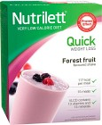 Nutrilett Quick Weightloss Shake Forest Fruit 15 påsar