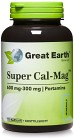 Great Earth Super Cal-Mag 600/300 mg 120 kapslar