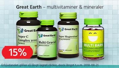 Great Earth vitaminer och mineraler 15% v. 32