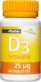 Bild på Pharbio D3-vitamin 180 tabletter