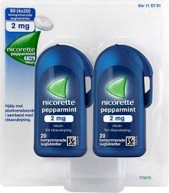 Bild på Nicorette Pepparmint, komprimerad sugtablett 2 mg 4 x 20 st