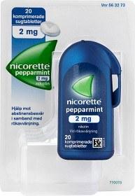 Bild på Nicorette Pepparmint, komprimerad sugtablett 2 mg 20 st