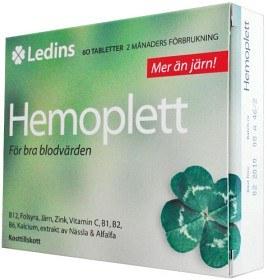 Bild på Ledins Hemoplett 60 tabletter