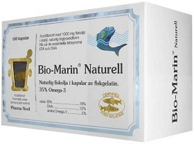 Bild på Bio-Marin Fiskolja Naturell 1000 mg, 100 kapslar
