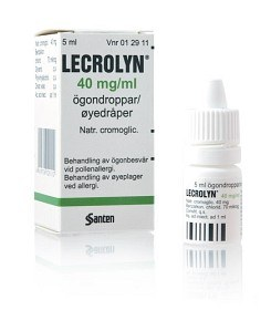 Bild på Lecrolyn ögondroppar 40 mg/ml 5 ml