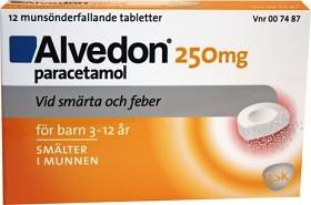 Bild på Alvedon, munsönderfallande tablett 250 mg 12 st (15-40 kg)