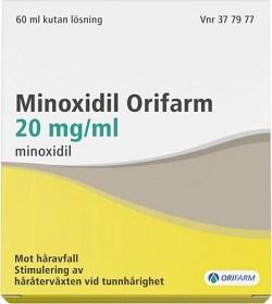 Bild på Minoxidil Orifarm, kutan lösning 20 mg/ml 60 ml