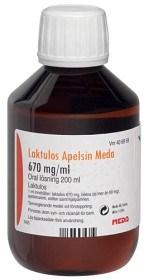 Bild på Laktulos Apelsin Meda, oral lösning 670 mg/ml 200 ml