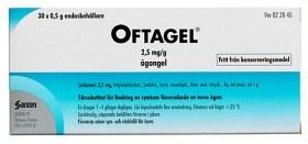 Bild på Oftagel, ögongel i endosbehållare 2,5 mg/g 30 st