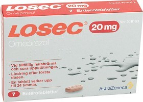 Bild på Losec enterotablett 20 mg 7 st