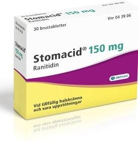 Bild på Stomacid, Brustablett 150 mg 30 st