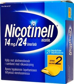 Bild på Nicotinell, depotplåster 14 mg/24 timmar 21 st