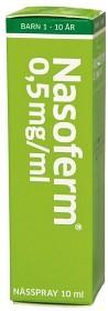 Bild på Nasoferm, nässpray, lösning 0,5 mg/ml 10 ml