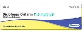 Bild på Diclofenac Orifarm, gel 11,6 mg/g 50 gr