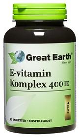 Bild på Great Earth E-vitamin Komplex 400 IE 90 tabletter