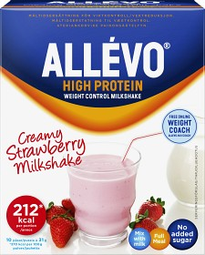 Bild på Allévo High Protein Pulver Jordgubb, 10 påsar