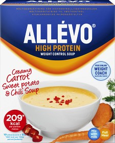 Bild på Allévo High Protein Soup Carrot & Sweet Potato, 10 påsar
