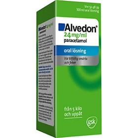 Bild på Alvedon, oral lösning 24 mg/ml 100 ml