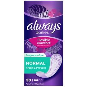 Bild på Always Dailies Normal Fresh & Protect 30 st doftfri