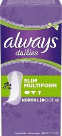 Bild på Always Dailies Slim Multiform 40 st
