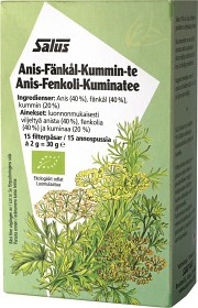 Bild på Anis-Fänkål-Kummin te 15 tepåsar