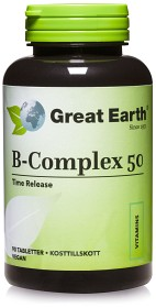 Bild på Great Earth B-Complex 50, 90 tabletter