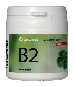 Bild på Ledins B2 Vitamin 25 mg, 50 tabletter