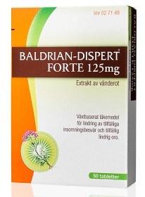 Bild på Baldrian-Dispert Forte, dragerad tablett 125 mg 50 st