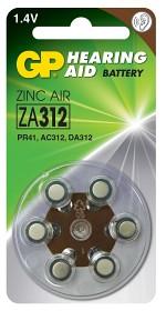Bild på Batteri Hörapparat zink luft  ZA312 1,44V 6 st