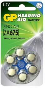 Bild på Batteri Hörapparat zink luft  ZA675 1,44V 6 st